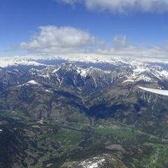 Flugwegposition um 12:41:03: Aufgenommen in der Nähe von Gemeinde Untertilliach, Österreich in 3536 Meter