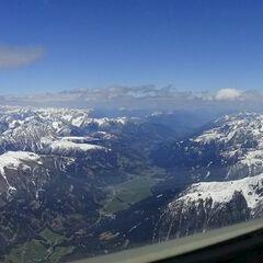 Flugwegposition um 12:56:50: Aufgenommen in der Nähe von 39030 Sexten, Südtirol, Italien in 3439 Meter