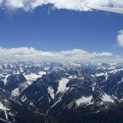 Flugwegposition um 13:06:35: Aufgenommen in der Nähe von Gemeinde Sillian, 9920, Österreich in 3455 Meter