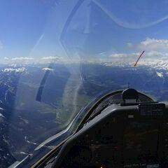 Flugwegposition um 13:09:18: Aufgenommen in der Nähe von Gemeinde Kartitsch, Kartitsch, Österreich in 3490 Meter