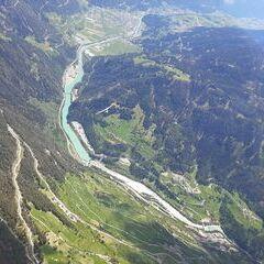 Flugwegposition um 12:11:16: Aufgenommen in der Nähe von Gemeinde Fließ, Fließ, Österreich in 2699 Meter
