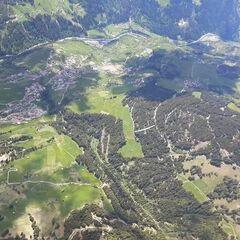 Flugwegposition um 12:11:11: Aufgenommen in der Nähe von Gemeinde Fließ, Fließ, Österreich in 2715 Meter