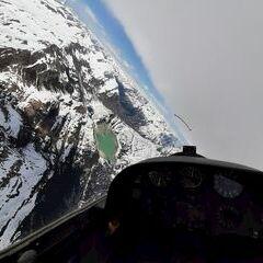Flugwegposition um 12:45:36: Aufgenommen in der Nähe von Gemeinde Gashurn, Gaschurn, Österreich in 2965 Meter