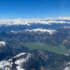 Flugwegposition um 12:45:34: Aufgenommen in der Nähe von Gemeinde Untertilliach, Österreich in 3408 Meter