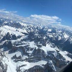 Flugwegposition um 13:05:53: Aufgenommen in der Nähe von 39038 Innichen, Südtirol, Italien in 3452 Meter