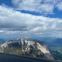 Flugwegposition um 14:28:36: Aufgenommen in der Nähe von Gemeinde Nötsch im Gailtal, Österreich in 2136 Meter