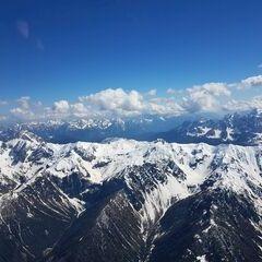 Flugwegposition um 14:07:32: Aufgenommen in der Nähe von Gemeinde Strassen, Strassen, Österreich in 3488 Meter