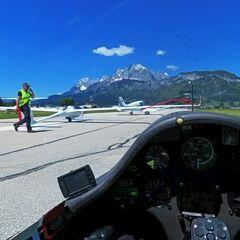 Flugwegposition um 10:31:19: Aufgenommen in der Nähe von Gemeinde St. Johann in Tirol, St. Johann in Tirol, Österreich in 619 Meter