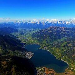 Flugwegposition um 15:48:42: Aufgenommen in der Nähe von Gemeinde Kaprun, Kaprun, Österreich in 2845 Meter
