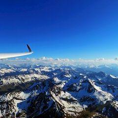 Flugwegposition um 16:38:28: Aufgenommen in der Nähe von Gemeinde Fieberbrunn, 6391 Fieberbrunn, Österreich in 2480 Meter