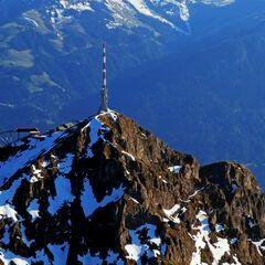 Flugwegposition um 16:43:12: Aufgenommen in der Nähe von Gemeinde St. Johann in Tirol, St. Johann in Tirol, Österreich in 2189 Meter