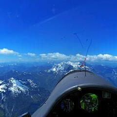 Flugwegposition um 11:31:04: Aufgenommen in der Nähe von Gemeinde Weißbach bei Lofer, 5093, Österreich in 2721 Meter