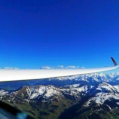 Flugwegposition um 15:58:35: Aufgenommen in der Nähe von Gemeinde Maria Alm am Steinernen Meer, 5761, Österreich in 2406 Meter