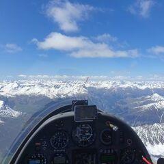Flugwegposition um 13:04:25: Aufgenommen in der Nähe von 39027 Graun im Vinschgau, Südtirol, Italien in 3885 Meter