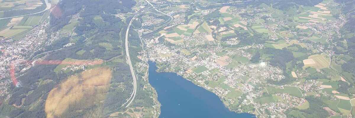 Flugwegposition um 10:25:53: Aufgenommen in der Nähe von Gemeinde Spittal an der Drau, Spittal an der Drau, Österreich in 2366 Meter
