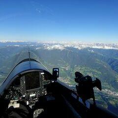 Flugwegposition um 16:20:02: Aufgenommen in der Nähe von 39042 Brixen, Südtirol, Italien in 3104 Meter