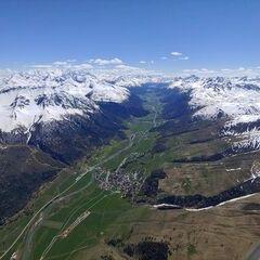 Flugwegposition um 13:21:58: Aufgenommen in der Nähe von Maloja, Schweiz in 3236 Meter