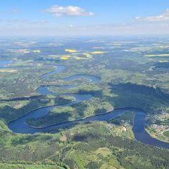 Flugwegposition um 11:00:17: Aufgenommen in der Nähe von Saale-Orla-Kreis, Deutschland in 1524 Meter