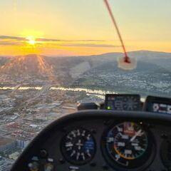 Flugwegposition um 18:26:56: Aufgenommen in der Nähe von Linz, Österreich in 611 Meter
