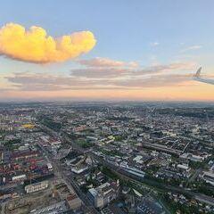 Flugwegposition um 18:28:44: Aufgenommen in der Nähe von Linz, Österreich in 534 Meter