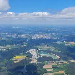Flugwegposition um 12:30:16: Aufgenommen in der Nähe von Neumarkt in der Oberpfalz, Deutschland in 1877 Meter