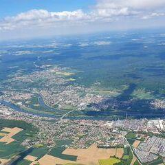 Flugwegposition um 10:02:22: Aufgenommen in der Nähe von Kelheim, Deutschland in 1608 Meter