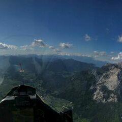 Flugwegposition um 14:54:58: Aufgenommen in der Nähe von Gemeinde Hohenthurn, Hohenthurn, Österreich in 2028 Meter