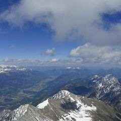 Flugwegposition um 12:38:53: Aufgenommen in der Nähe von Gemeinde Oberdrauburg, 9781, Österreich in 2823 Meter