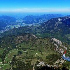Flugwegposition um 10:51:45: Aufgenommen in der Nähe von Gemeinde Scheffau am Wilden Kaiser, Österreich in 2190 Meter