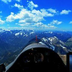 Flugwegposition um 12:10:20: Aufgenommen in der Nähe von Gemeinde Eben am Achensee, Österreich in 2552 Meter