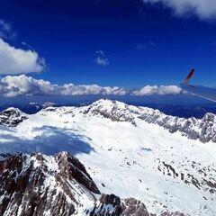 Flugwegposition um 12:38:27: Aufgenommen in der Nähe von Gemeinde Wildermieming, Österreich in 3033 Meter