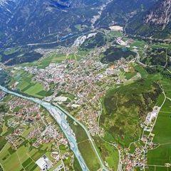 Flugwegposition um 12:48:21: Aufgenommen in der Nähe von Reutte, Gemeinde Reutte, Österreich in 2601 Meter