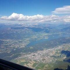 Flugwegposition um 14:19:23: Aufgenommen in der Nähe von Gemeinde Kleblach-Lind, 9753, Österreich in 3249 Meter