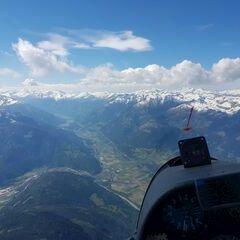 Flugwegposition um 14:19:35: Aufgenommen in der Nähe von Gemeinde Baldramsdorf, Österreich in 3205 Meter