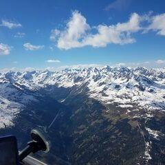 Flugwegposition um 14:44:57: Aufgenommen in der Nähe von Gemeinde Iselsberg-Stronach, Österreich in 3065 Meter
