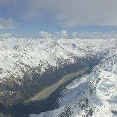 Flugwegposition um 14:41:46: Aufgenommen in der Nähe von Gemeinde Ried im Oberinntal, Österreich in 3830 Meter