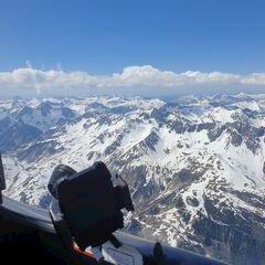 Flugwegposition um 13:53:17: Aufgenommen in der Nähe von Gemeinde St. Anton am Arlberg, 6580 St. Anton am Arlberg, Österreich in 3302 Meter