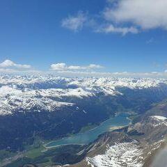 Flugwegposition um 13:24:47: Aufgenommen in der Nähe von 39024 Mals, Südtirol, Italien in 3831 Meter