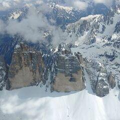 Flugwegposition um 14:21:19: Aufgenommen in der Nähe von 39034 Toblach, Südtirol, Italien in 3287 Meter