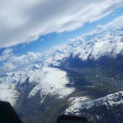Flugwegposition um 14:33:58: Aufgenommen in der Nähe von 23041 Livigno, Sondrio, Italien in 3853 Meter