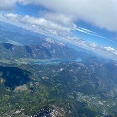 Flugwegposition um 11:11:56: Aufgenommen in der Nähe von Gemeinde Kirchbach, Österreich in 2764 Meter