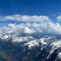 Flugwegposition um 14:10:54: Aufgenommen in der Nähe von Gemeinde Anras, Österreich in 3521 Meter