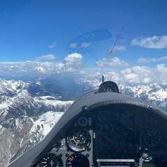 Flugwegposition um 14:10:57: Aufgenommen in der Nähe von Gemeinde Anras, Österreich in 3512 Meter