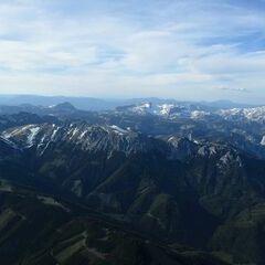 Flugwegposition um 16:34:41: Aufgenommen in der Nähe von Hafning bei Trofaiach, Österreich in 2556 Meter