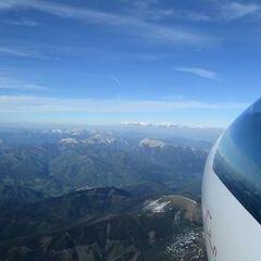 Flugwegposition um 16:22:03: Aufgenommen in der Nähe von Gemeinde Wald am Schoberpaß, 8781, Österreich in 3126 Meter