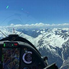 Flugwegposition um 12:22:36: Aufgenommen in der Nähe von Gemeinde St. Anton am Arlberg, 6580 St. Anton am Arlberg, Österreich in 3187 Meter