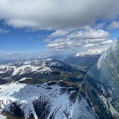 Flugwegposition um 14:19:35: Aufgenommen in der Nähe von Gemeinde Gerlos, 6281 Gerlos, Österreich in 2875 Meter