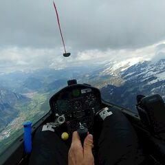 Flugwegposition um 14:59:34: Aufgenommen in der Nähe von 38038 Tesero, Trentino, Italien in 2603 Meter