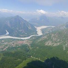 Flugwegposition um 11:43:09: Aufgenommen in der Nähe von 33010 Venzone, Udine, Italien in 1567 Meter