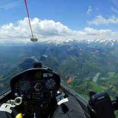 Flugwegposition um 11:01:50: Aufgenommen in der Nähe von Gorje, 4247 Zgornje Gorje, Slowenien in 2176 Meter